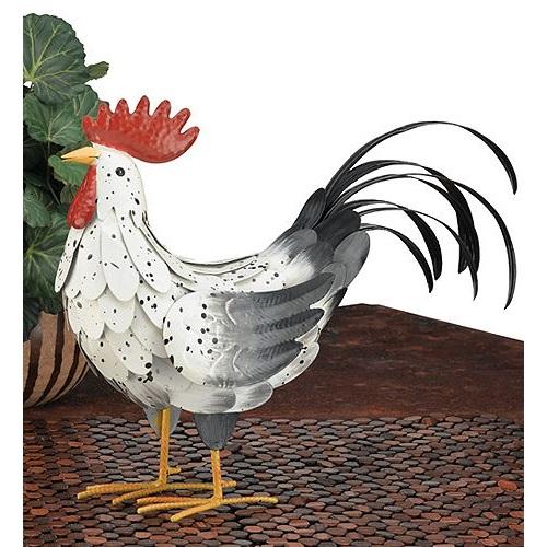 New Regal White Rooster Decor Medium