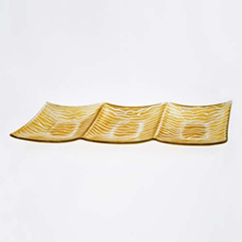 """Badash Crystal 3 SECTION GOLD WAVE 16X5.5"""" at Sears.com"""
