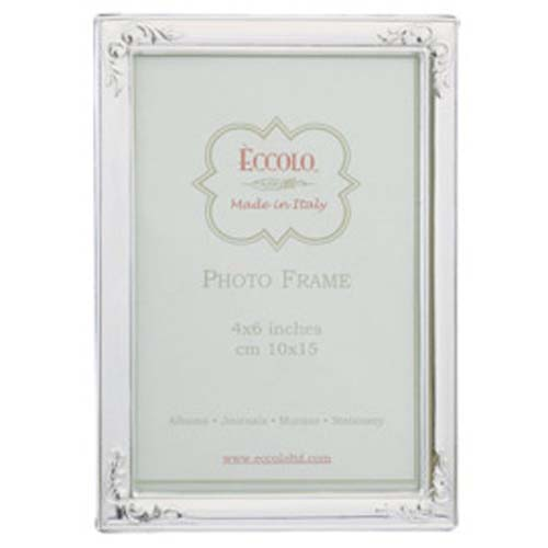 Eccolo Flowered Corners Sterling Silver Frame, 5 by 7 at Sears.com